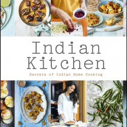'Indian Kitchen' by Maunika Gowardhan & Spice Tin, 9 Spices & Handmade Silk Sari Wrap